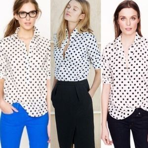🔮 J. CREW FACTORY   Jacquard Dot Popover Shirt